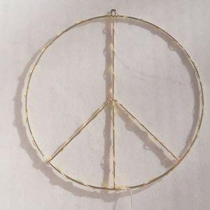 Peace Sign Wall Light sculpture